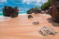 Tropical beach with volcanic rocks bali indonesia Royalty Free Stock Photography