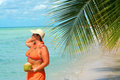 Tropical beach woman Stock Photography