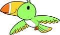 Tropical Bird Vector  Stock Image