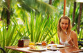 Tropical breakfast Royalty Free Stock Photo