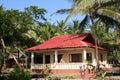 Tropical bungalow Royalty Free Stock Photos