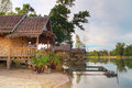 Tropical Bungalow in Thailand Stock Photography