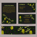 Tropical card set for different invitations