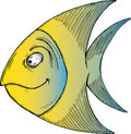 Tropical Cartoon Fish Stock Photo
