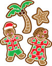 Tropical Christmas Cookies Royalty Free Stock Photography