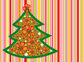 Tropical christmas tree Royalty Free Stock Image