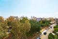 Tropical city backyard in limassol cyprus Royalty Free Stock Photography
