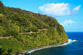 Tropical coast, Road to Hana, Maui Hawaii Stock Images