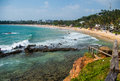 Tropical coastline from observation deck Royalty Free Stock Photo