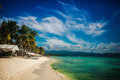 Tropical coastline white sand beach Royalty Free Stock Images
