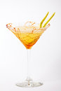 Tropical cocktail drink with caramel and pear Royalty Free Stock Photo