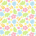 Tropical colorful pattern Royalty Free Stock Photos