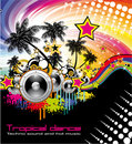 Tropical Dance Music Flyer Stock Photo