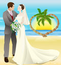 Tropical destination beach wedding Royalty Free Stock Photo