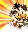 Tropical Disco Party Vector Royalty Free Stock Photo
