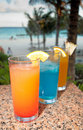 Tropical drinks Stock Photo