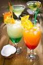 Tropical drinks in the glass close up Stock Photography