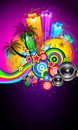 Tropical Event Disco Flyer Royalty Free Stock Photo