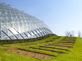 Tropical Exhibition Greenhouse appearance Royalty Free Stock Photo