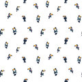 Tropical exotic birds parrots toucans summer seamless hipster background pattern.