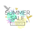 Tropical exotic plants. Stylish sale poster, trendy graphics. Royalty Free Stock Photo