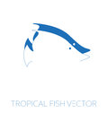Tropical fish minimal illustration