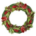 Tropical floral Christmas wreath Royalty Free Stock Image