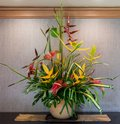 Tropical flower arrangement on Kauai Royalty Free Stock Photo