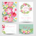 Tropical Flowers - for Wedding, Invitation Royalty Free Stock Photo