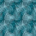 Tropical forest decorative turquoise pattern