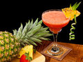 Tropical fruit cocktail Stock Photos
