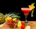 Tropical fruit cocktail Stock Image