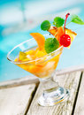 Tropical fruit cocktail appetiser Stock Photography