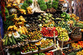 Tropical fruit stand Royalty Free Stock Photography