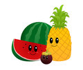 Tropical fruit various kinds of funny shaped Royalty Free Stock Images
