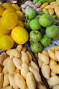 Tropical fruits varieties of malaysia fruit Stock Images