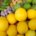 Tropical fruits varieties of malaysia fruit Royalty Free Stock Image