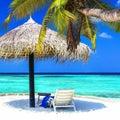 Tropical getaway - Maldives islands Royalty Free Stock Photo