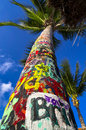 Tropical Graffiti Tree Royalty Free Stock Photo
