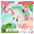 Tropical Graphic Design - Flamingo Royalty Free Stock Photo