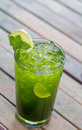 Tropical green cocktail Stock Image
