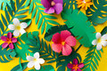 Tropical Handcrafted Papercraft Nature Petals Royalty Free Stock Photo
