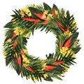 Tropical heliconia & alstroemeria wreath
