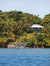 Tropical house in Bocas del Toro Royalty Free Stock Photos