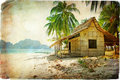Tropical hut Stock Image