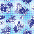 Tropical image pattern i made a a this painting continues repeatedly it is a vector work Stock Images