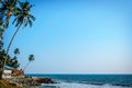 Tropical Indian village in Varkala, Kerala, India Royalty Free Stock Photo