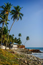 Tropical Indian village  in Varkala, Kerala, India Royalty Free Stock Photo