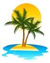 Tropical Island Royalty Free Stock Photo