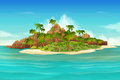 Tropical island background Royalty Free Stock Photo